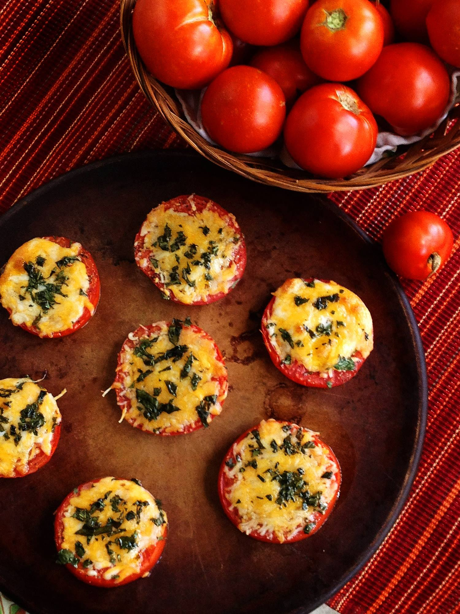 BROILED TOMATOES WITH BASIL